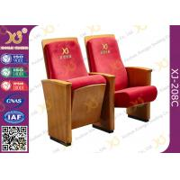 Wholesale High-end Red Fabric Auditorium Chairs With Folded Writing Tablet from china suppliers