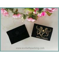 Wholesale customized velvet jewelry bag with button golden logo printing from china suppliers