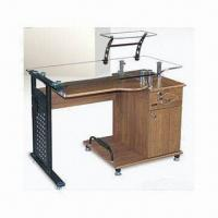 Wholesale Computer Desk with 8mm Top Toughened Glass and Paint Iron/Density Board from china suppliers