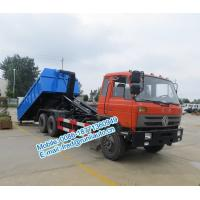Quality Hydraulic oil cylinder controlled orange color Dongfeng 6x4 20 ton used hook truck cheap price for sale for sale