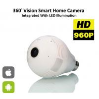 Wholesale Wifi 1.3 Megapixel Panoramic 3D Camera 360 Degree Bulb IP Network Camera from china suppliers