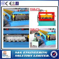 Wholesale Corrugated Floor Deck Roll Forming Machine With Cr12 Mould Steel Cutting Blades from china suppliers