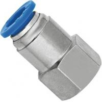 Pneumatic Female Straight NPT Threaded Fittings With Push Fit Technology