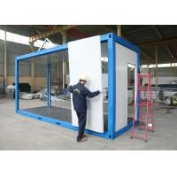 Wholesale Living Room Temporary Camp Flat Pack Container House For Refuges from china suppliers