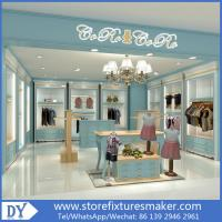 Wholesale Custom nice fashion  design wooden lacquer Childrens Clothing Stores display showcase furniture  with good price from china suppliers