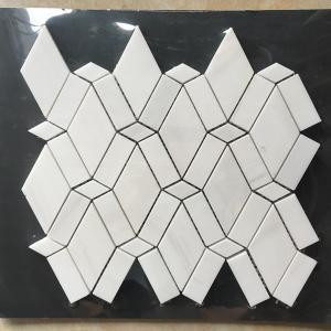 Wholesale White Diamond Dolomite Nature Stone Mosaic Tile For Kitchen Backsplash from china suppliers