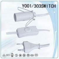 Buy cheap VDE 2 straight pin power plug copper wire Power cable with stopper from wholesalers