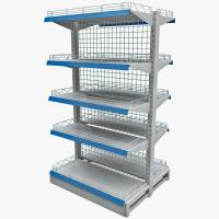 Wholesale Powder Coated Two Sides Mesh Hook Iron Shelves Wire Display Racks / Stand For Supermarket from china suppliers