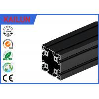 Wholesale 6063 T5 Black Anodized Aluminium T Section Extrusions 80 X 80 MM TS16949 / SGS from china suppliers