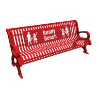 Wholesale Red Steel Cast Aluminium Garden Bench , Metal Buddy Bench For Schools from china suppliers