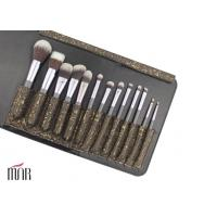 Wholesale Nylon Hair Makeup Brush Makeup Brush Cylinder Multicolor with Shiny Aluminum Ferrule from china suppliers