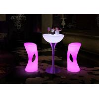 Wholesale Cool Bar Club Party Wedding Ktv Hotel Light Up Cocktail Tables With Rechargeable Battery from china suppliers