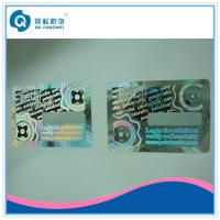 Wholesale 3D Holographic Anti-counterfeit abel With Coating / Custom Hologram Stickers With Coating from china suppliers