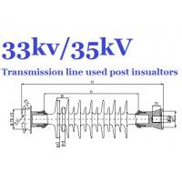 Wholesale 35kV / 33kV Transmission Line Post Insulator , Grey Polymer Post Insulator from china suppliers