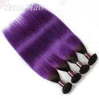 Wholesale Ombre Purple Two Tone 8A Virgin Hair Extensions With No Chemical from china suppliers