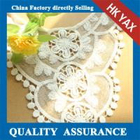 Wholesale New Arrival lace fabric ,Embroidery Beautiful water soluble Lace For Garments Top water dissolving embroidered lace from china suppliers