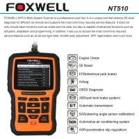 Wholesale FOXWELL NT510 OBDII Car Diagnostic Scan Tool , Multi-system Code Reader Scanner from china suppliers