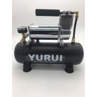 Quality Low Noise DC Air Suspension Pump With Connected Air Tank And Gauge For Air Bag for sale