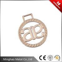 Wholesale Light gold handbag logo label , small metal logo name plate for sales from china suppliers