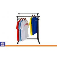 Wholesale Balcony Clothes Drying Racks with Wheels , Adjustable Clothing Hanger for Garment Store from china suppliers