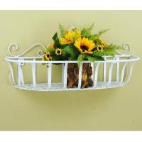 Wholesale wrought iron flower rack planter wall hanging from china suppliers