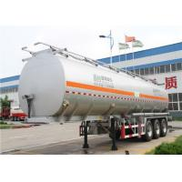 Wholesale 3 Axles 60 cbm aluminum Alloy Fuel tanker semi trailer / oil tank trailer from china suppliers