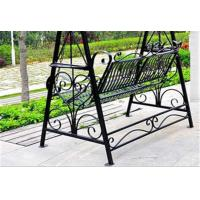 Wholesale Metal Garden Other Furniture Two Seater Wrought Iron Hanging Swing Chair from china suppliers