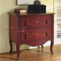 Wholesale American style furniture,hand painted furniture manual wood carved 1089A porch cabinet from china suppliers