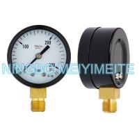 Wholesale Oxygen Black Steel Bottom General Instruments Pressure Gauge / Manometer from china suppliers