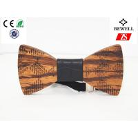 Wholesale Eco Friendly Handmade Wood Accessories / Zebra Wooden Bow Ties For Men , OEM ODM Service from china suppliers