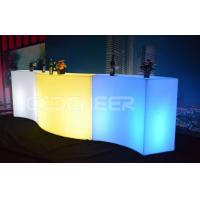 Wholesale Waved Illuminated Bar Counter Led Buffet Table Event Party Use from china suppliers