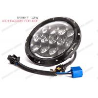 Wholesale OSRAM LED Chip Jeep LED Headlights 105W Hi / Lo Beam 6000K With Turn / DRL from china suppliers