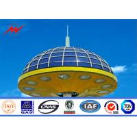 Buy cheap Q345 Steel Street LED High Mast Lighting Pole 20m / 25m For Airport / Seaport from wholesalers