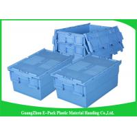 Quality Economic Plastic Food Storage Plastic Boxes , Supermarkets Attached Lid Distribution Containers for sale