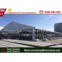Wholesale Large Clear Span Wide Custom Event Tents UV Resistant Glass Door For Auto Exhibition from china suppliers