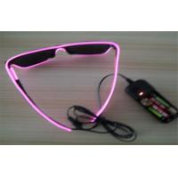 Wholesale Pink Frame EL Wire Glow  Sunglasses from china suppliers