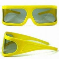 Wholesale Promotional Polarized 3-D Glasses, Suitable for Movie Purposes, Various Frame Colors are Available from china suppliers