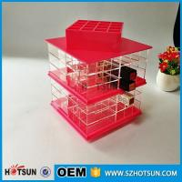 Wholesale New desgin acrylic rotating lipstick holder/plexiglass nail polish stand from china suppliers