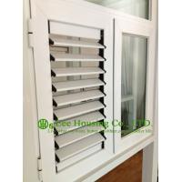 Wholesale louver blade shutter window / aluminum louver shutter design / Aluminum Casement Windows from china suppliers