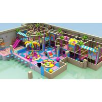 Wholesale purple theme kids indoor playhouse adventure playground with gun shooting from china suppliers