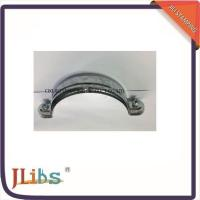 Quality Round Galvanized Pipe Clamps PVC Down Pipe Clamps With Riveted Fixed Nut for sale