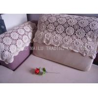 Wholesale Comfortable Handmade Crochet Sofa Cover Hand Wash With Embossed Flowers from china suppliers