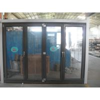 Wholesale 1.8mm profile thickness aluminum bifold doors with wood grain surface treament from china suppliers