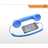 Wholesale OEM and ODM portable blue Anti Radiation Retro Cell phone Handset with 3.5mm plug from china suppliers