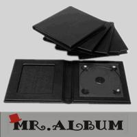 Wholesale Black leather single CD case with plain cover and window on the front page_CD case from china suppliers