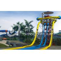 Wholesale Large Fiberglass Water Slides Equipment , Garden Water Slide For 4 Guests Per Time from china suppliers