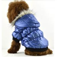 Winter dog clothes with water proof material blue color of for Dog proof material