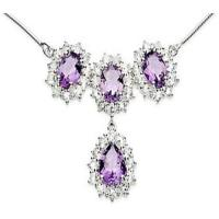 Wholesale Amethyst & Diamond Pendant from china suppliers