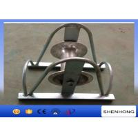 Wholesale 12KN Rated Load 150mm Cable Pulling Pulley , Aluminum Wheel Cable Roller Guide from china suppliers