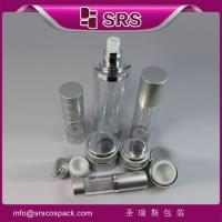 Wholesale SRS manufacturer wholesale empty round aluminum jar and airless spray bottle for skincare from china suppliers